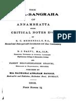 Tarka Sangraha with Commentary & Notes - KC Mehendele 1908.pdf