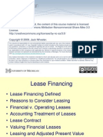 HMP607 F08 Lecture19 LeaseFinancing