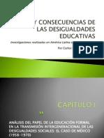 Origen y Consecuencias de Las Desigualdades Educativas