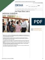 11-11-2013 'Da respuesta efectiva Pepe Elías Leal a peticiones ciudadanas'