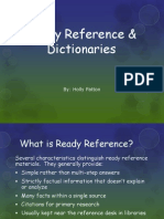 ready reference  dictionaries-holly patton