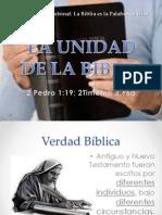 14 Jul 2013 La Unidad de La Biblia