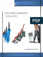 Equity Market Newsletter And Updates 12-November