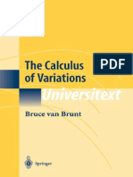 Bruce Van Brunt the Calculus of Variations 2010