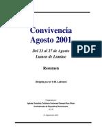 CURACIÓN DEL CUERPO FÍSICO (Convivencia Agosto 2001 - Lumen de Lumine)