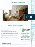 Vatika Tranquil Heights Price list Call @ 09999536147 In Sector 82A Gurgaon