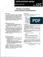 Estimation Uncertainity in Atomic Absorption