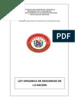 Ley Organica Seguridad Nacion