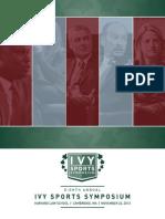 2013 Ivy Sports Symposium Program