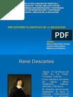 Reflexiones Filosoficas de La Educacion Rene Descartes