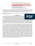 Design Of Hybrid Series Active Filters for Harmonic Reduction in Single Phase Systems