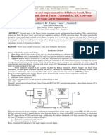 Design, Simulation and Implementation of Flyback based, True Single Stage, Isolated, Power Factor Corrected AC-DC Converter for Solar Array Simulators