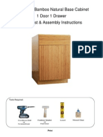 Bamboo Natural Base Cabinet Assembly Instructions