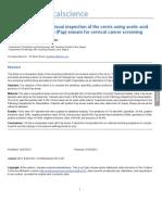 Perandingan Pap Smear dengan IVA pada carcinoma cervix