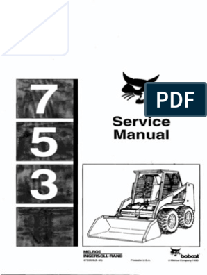Bobcat 753 Service Manual   Tire   Elevator