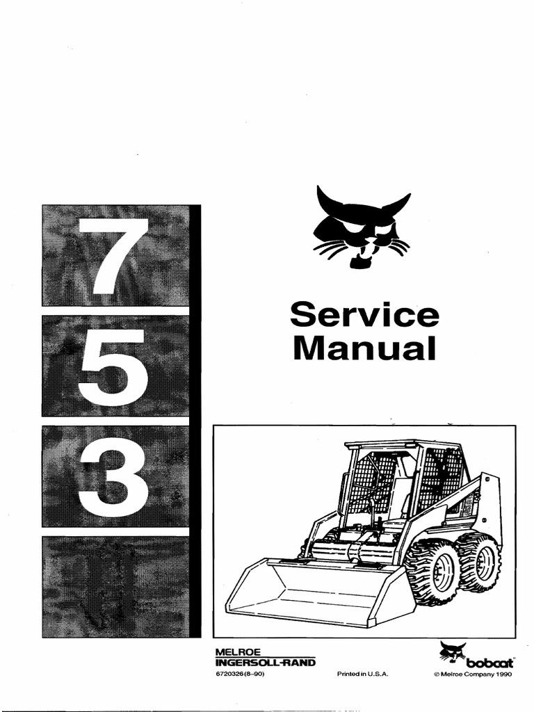 Bobcat 7753 Wiring Diagram Simple 753 Service Manual Tire Elevator 773