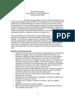 Directional Sounders i Papier Paper