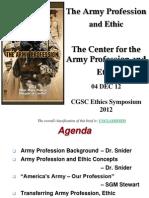 Snider-Army Profession and e
