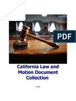 California law and motion document collection for sale