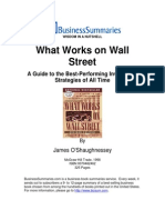 Book Summary What Works on Wall Street