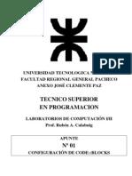 LAB1 APN01 Configuracion de CodeBlock 2008