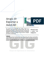 Arcgis 10 Exportar a Autocad Map