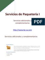 Servicios de Paquetería Adicionales