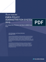 EMEA POLICY ADMINISTRATION SYSTEMS 2013 LIFE, ANNUITIES, PENSION, AND HEALTH ABCD VENDOR VIEW