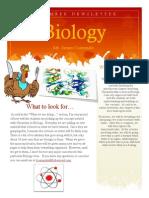 Biology November Newsletter