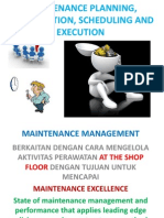 MAINTENANCE PLANNING , COORDINATION, SCHEDULING AND EXECUTION.ppt