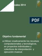Presentacion Artes Musicales 2014