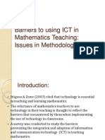Barriers to Using ICT in Mathematics Teaching