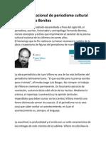 Homenaje nacional de periodismo cultural Fernando Benítez