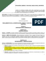 2012 REGLAMENTO DE LA ZONIFICACIÒN, OBRAS Y USO DEL SUELO EN EL DISTRITO 2012