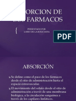 Absorcion de Los Farmacos