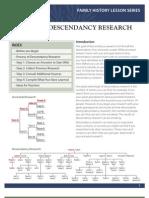 Lesson 1  Descendancy Research