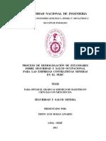 128055960 Proceso de Homologacion de Estandares Sobre Seguridad y Salud Ocupacional Para Las Empresas Contratistas Mineras en El Peru