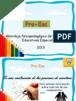 Presentación del Pro-Esc