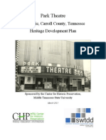 Park Theatre, McKenzie, Carroll County, Tennessee, Heritage Development Plan