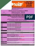 Lista de Precios (MundoSolar) OCTUBRE 2013-2