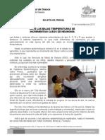 11/11/13 Germán Tenorio Vasconcelos ANTE LAS BAJAS TEMPERATURAS SE INCREMENTAN CASOS DE NEUMONÍA