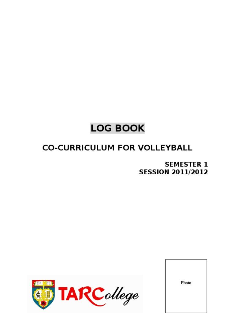 appendix 4 sample log book a4 co cu 201105 doc volleyball