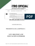 Ley de Educacion Superior