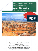 Canyon Country Brochure - WRVO & Boyer Travel