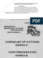 Emergency Broadcast System Checklist of Actions - 1975
