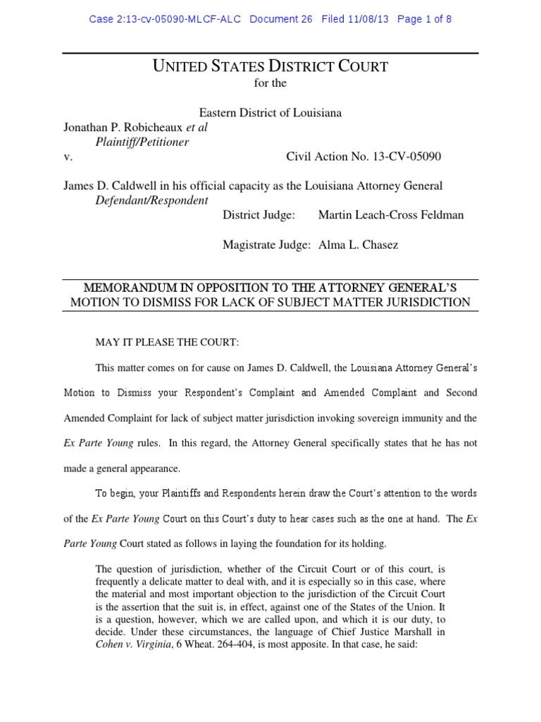 2:13-cv-05090 #26 | Ex Parte Young | Sovereign Immunity