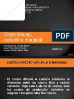 Costo Directo - Variable o Marginal