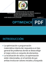 Optimización.
