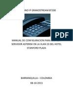 Manual Configuracion Telefono Ip Grandstream Bt200