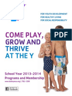 YMCA 2013-2014 School Year Program Guide